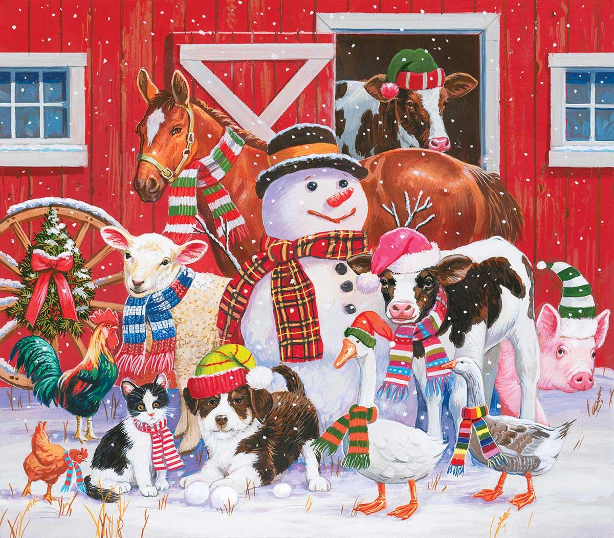 Ready for Winter Farm Jigsaw Puzzle