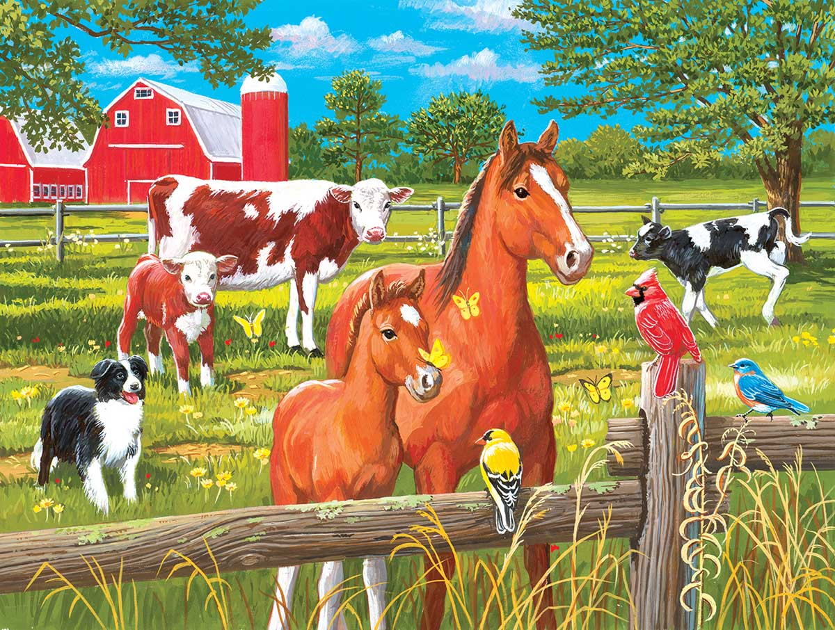 Spring Pasture Farm Jigsaw Puzzle