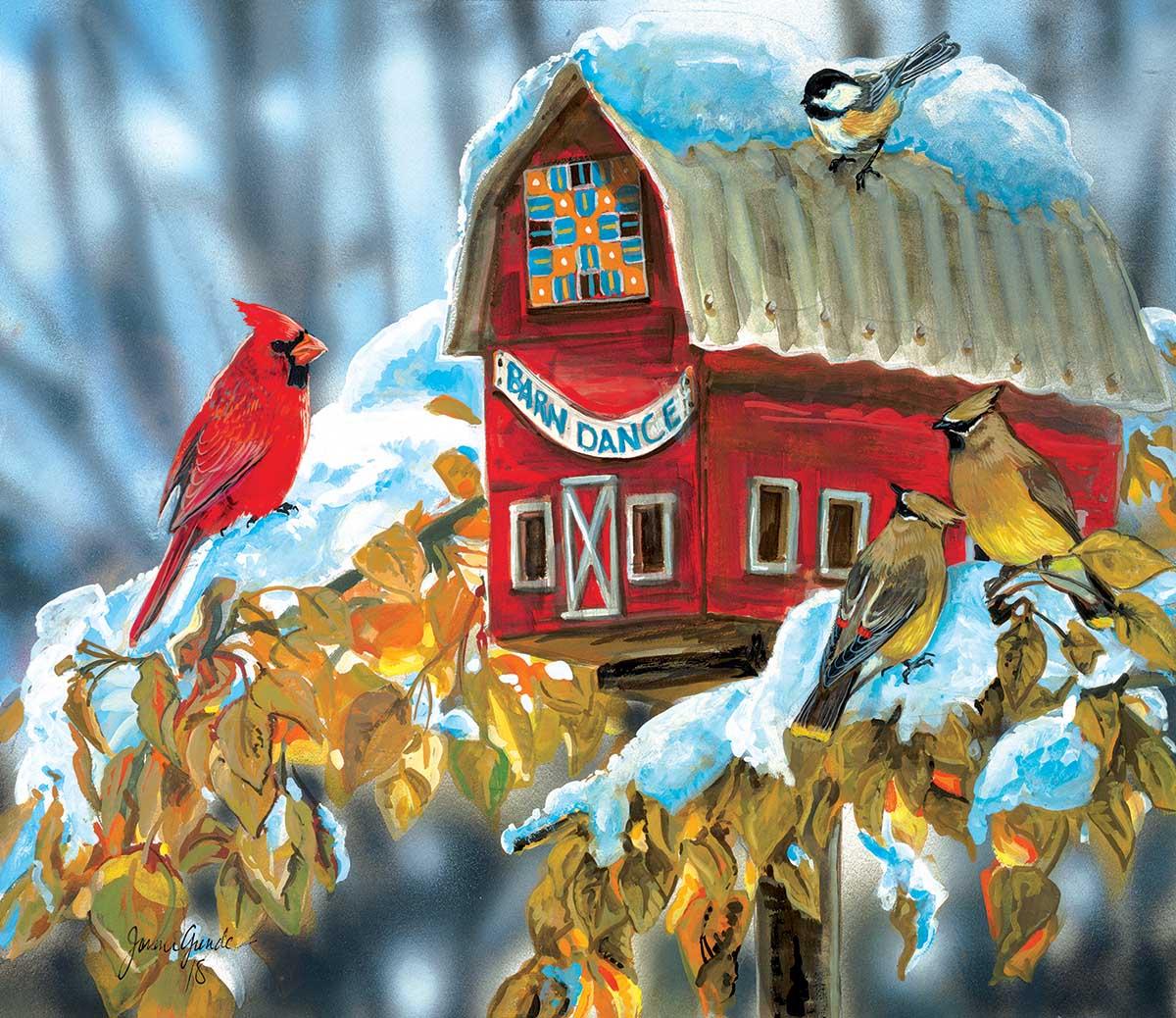 Barn Dance Birds Jigsaw Puzzle