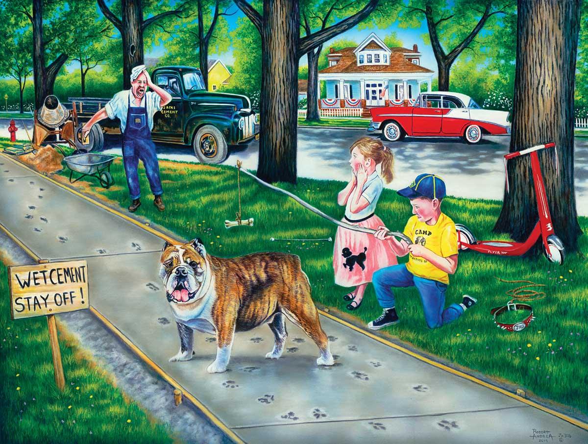 Dog Gone Mess Nostalgic / Retro Jigsaw Puzzle