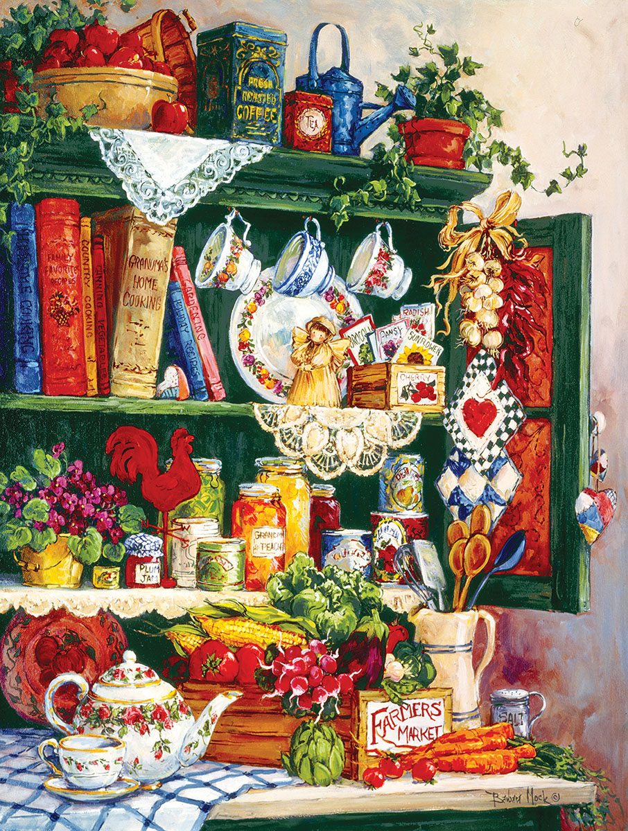 Grandma's Cupboard Everyday Objects Jigsaw Puzzle