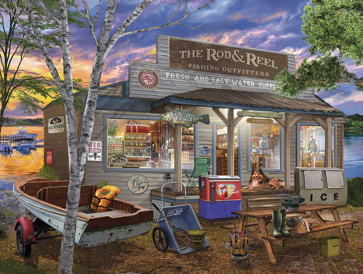 Rod and Reel Countryside Jigsaw Puzzle