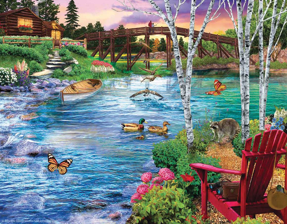 Bridge Fishing Father's Day Jigsaw Puzzle