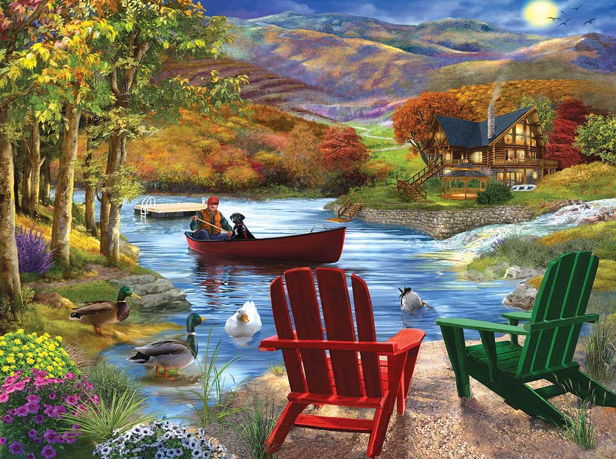 Lake Life Landscape Jigsaw Puzzle