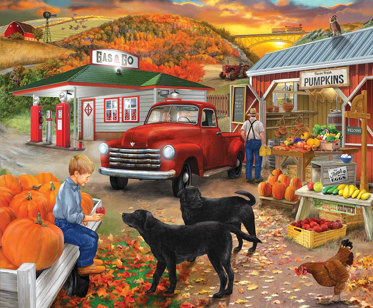 Roadside Stand Countryside Jigsaw Puzzle