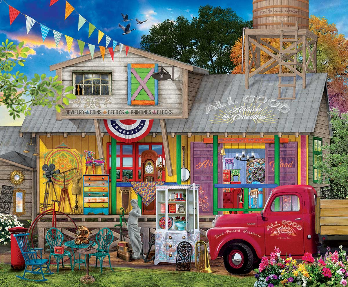 All Good Antiques Countryside Jigsaw Puzzle