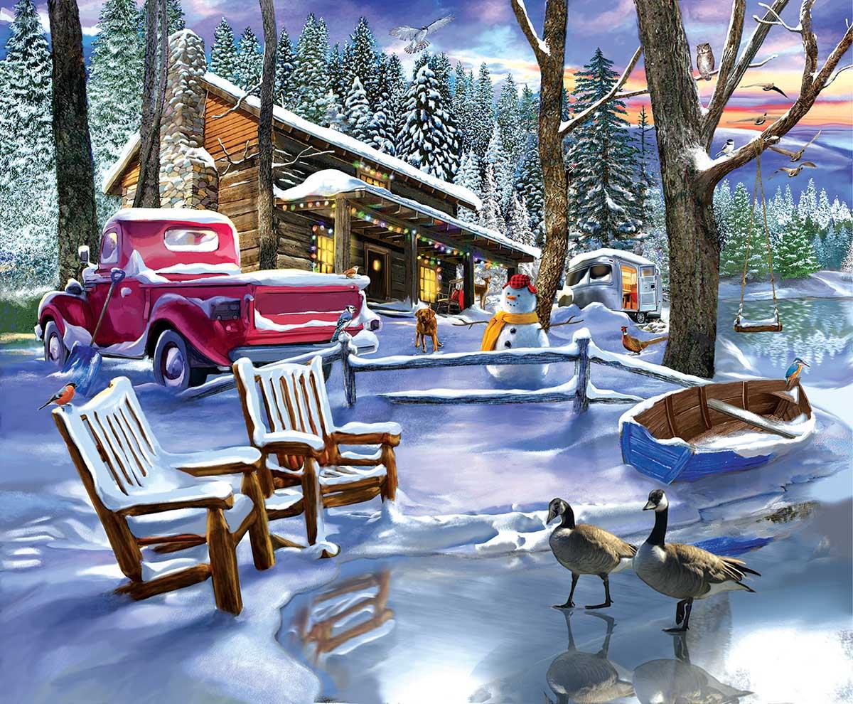 Snowed in Winter Jigsaw Puzzle