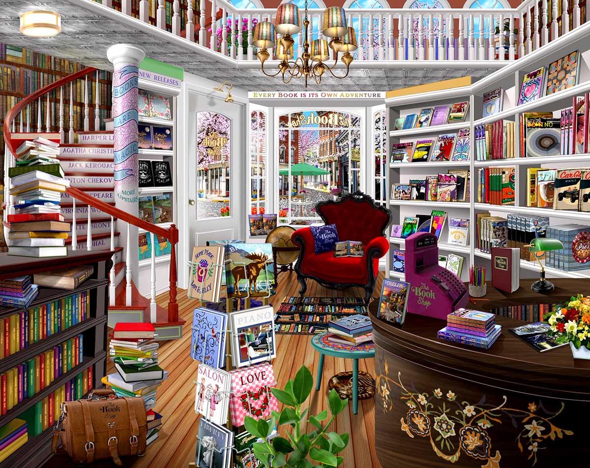 The Book Shop Domestic Scene Jigsaw Puzzle
