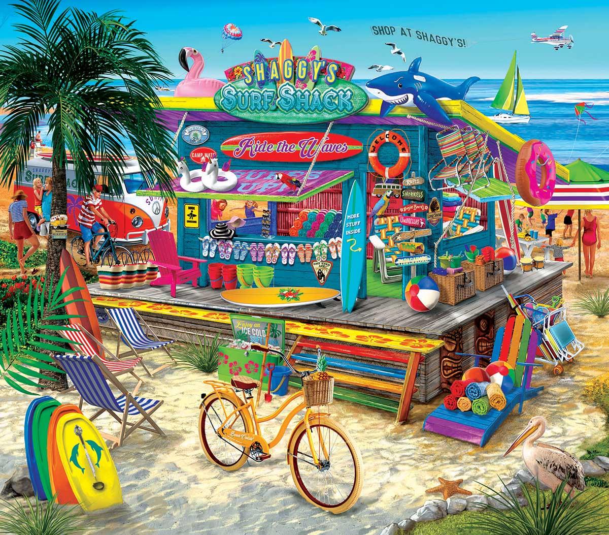 Shaggy's Surf Shop Beach Jigsaw Puzzle