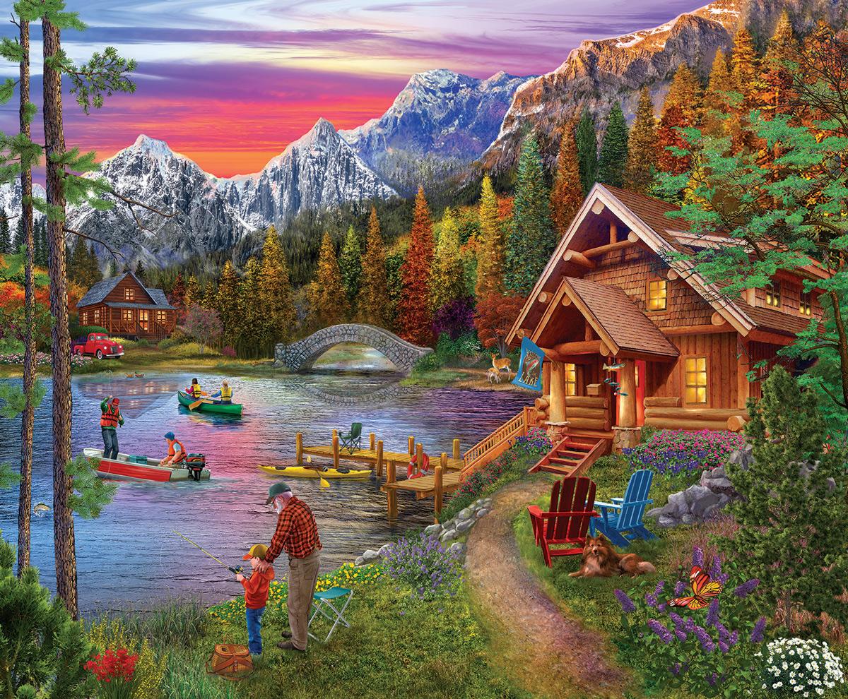 Stone Bridge Lake Lakes / Rivers / Streams Jigsaw Puzzle