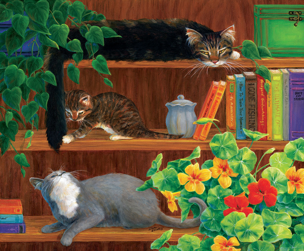 Think About it Twice Cats Jigsaw Puzzle