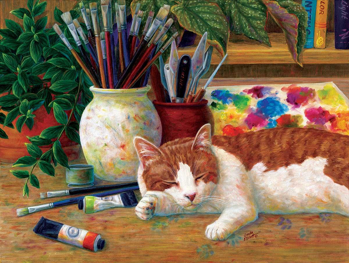 Painter's Helper Cats Jigsaw Puzzle