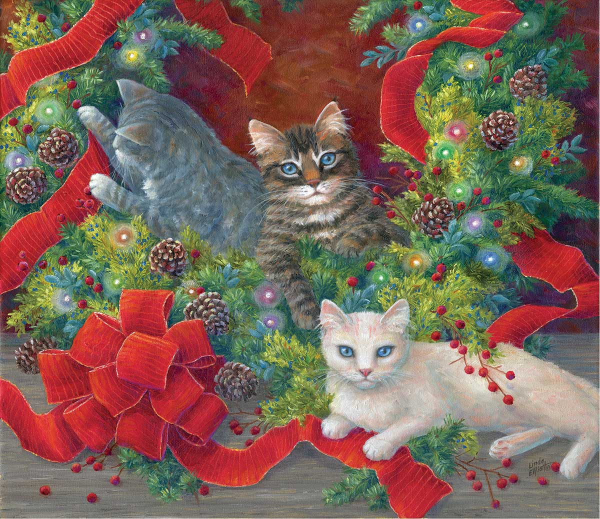 The Unmaking of the Wreath Cats Jigsaw Puzzle