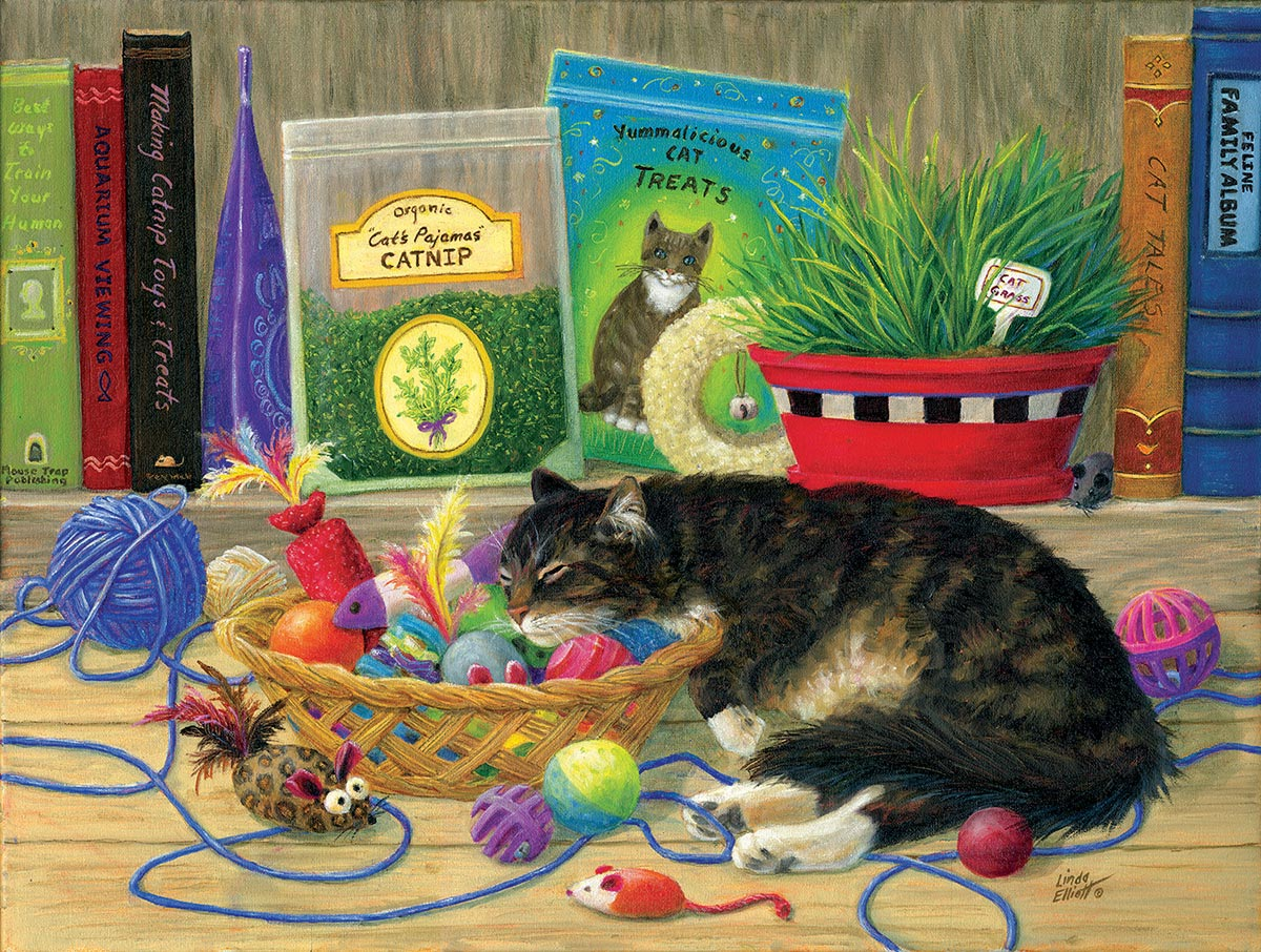 Tucker's Toy Basket Crafts & Textile Arts Jigsaw Puzzle