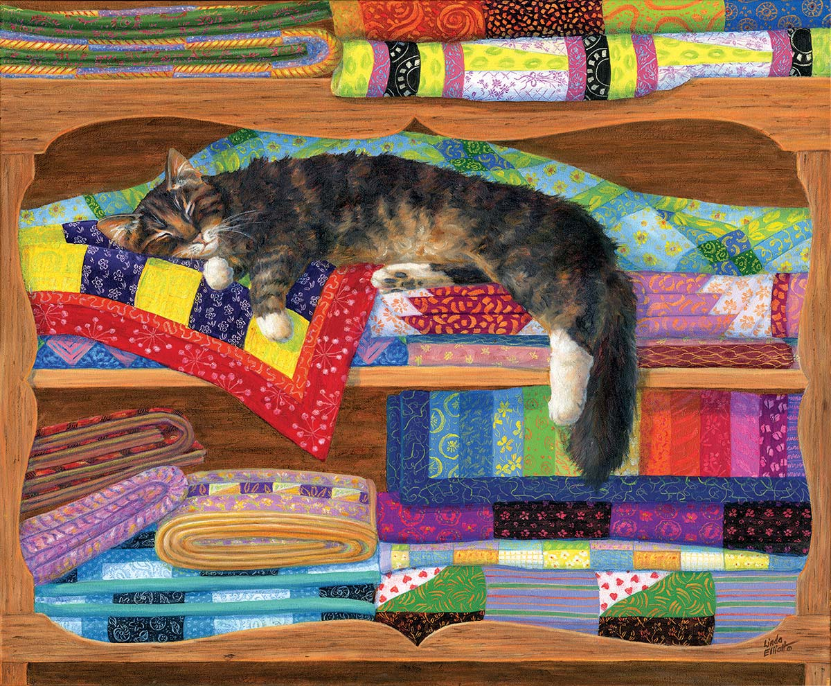 Quilt Cupboard Crafts & Textile Arts Jigsaw Puzzle