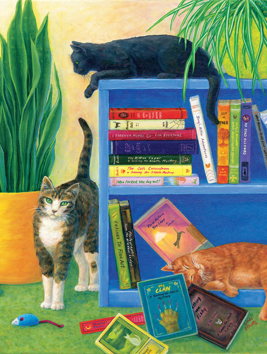 Look Out Below Cats Jigsaw Puzzle