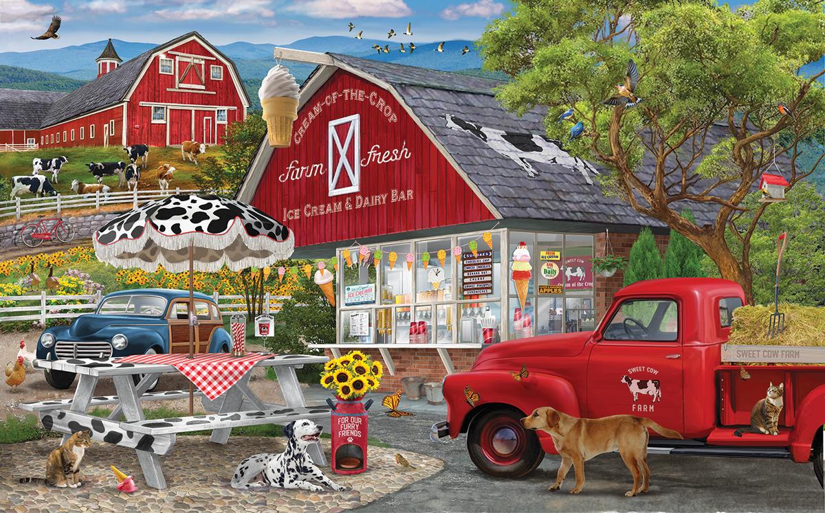 Dairy Bar Vehicles Jigsaw Puzzle