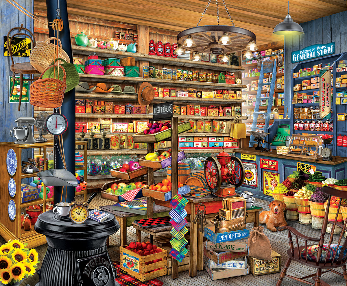 Mom and Pops General Store Jigsaw Puzzle
