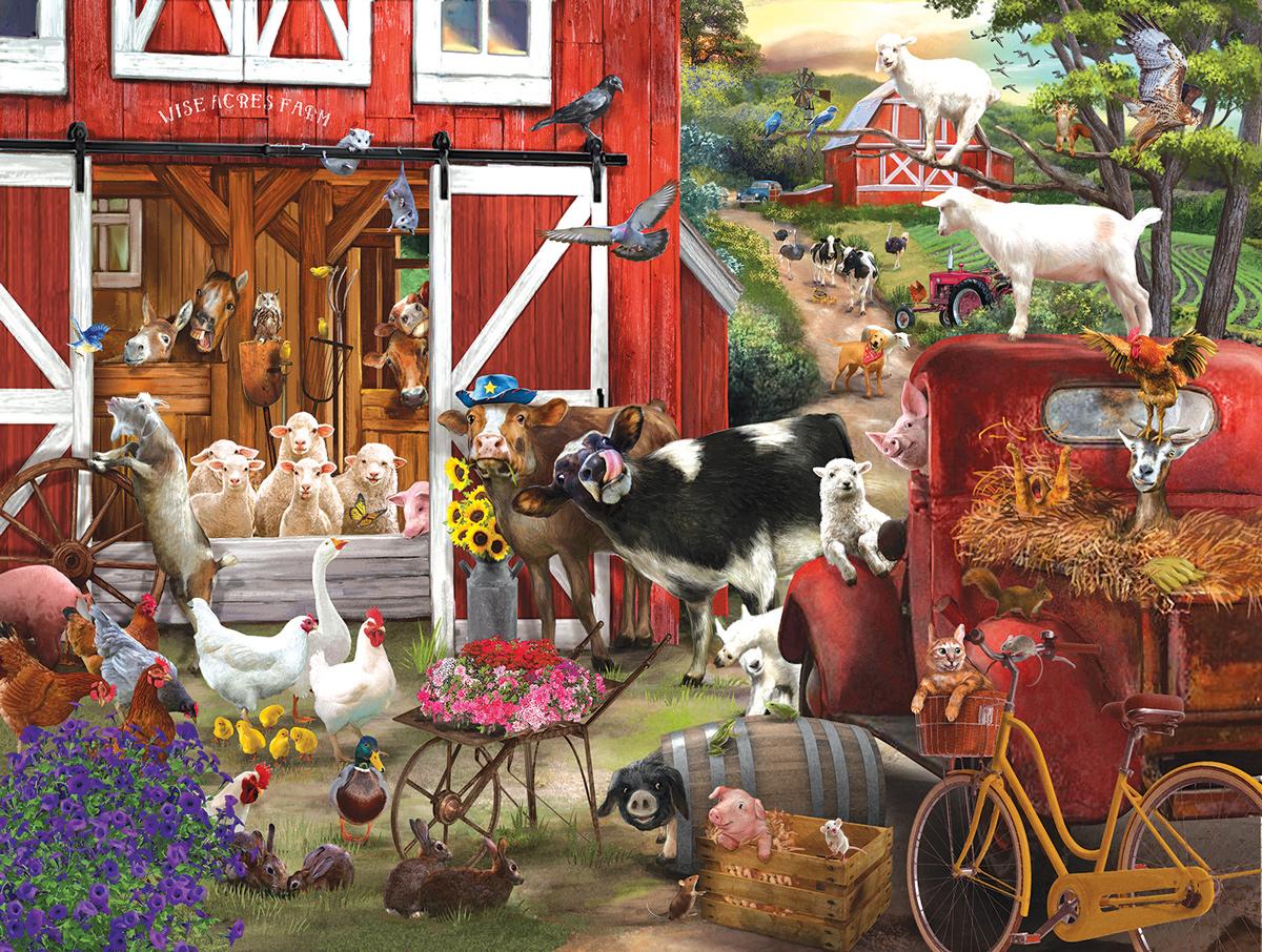 Wise Acres Farm Farm Jigsaw Puzzle
