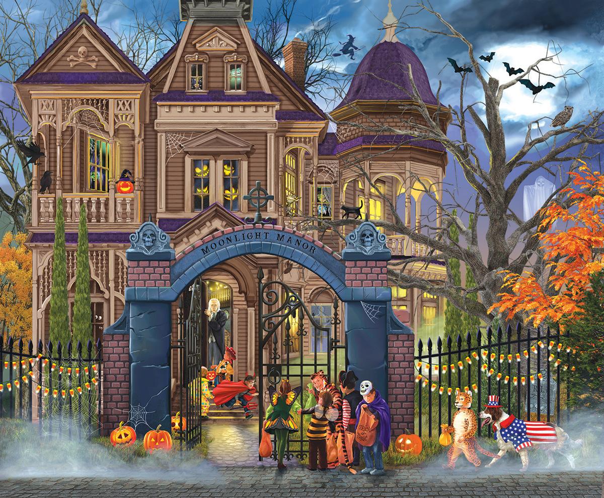 Moonlight Manor Fall Jigsaw Puzzle