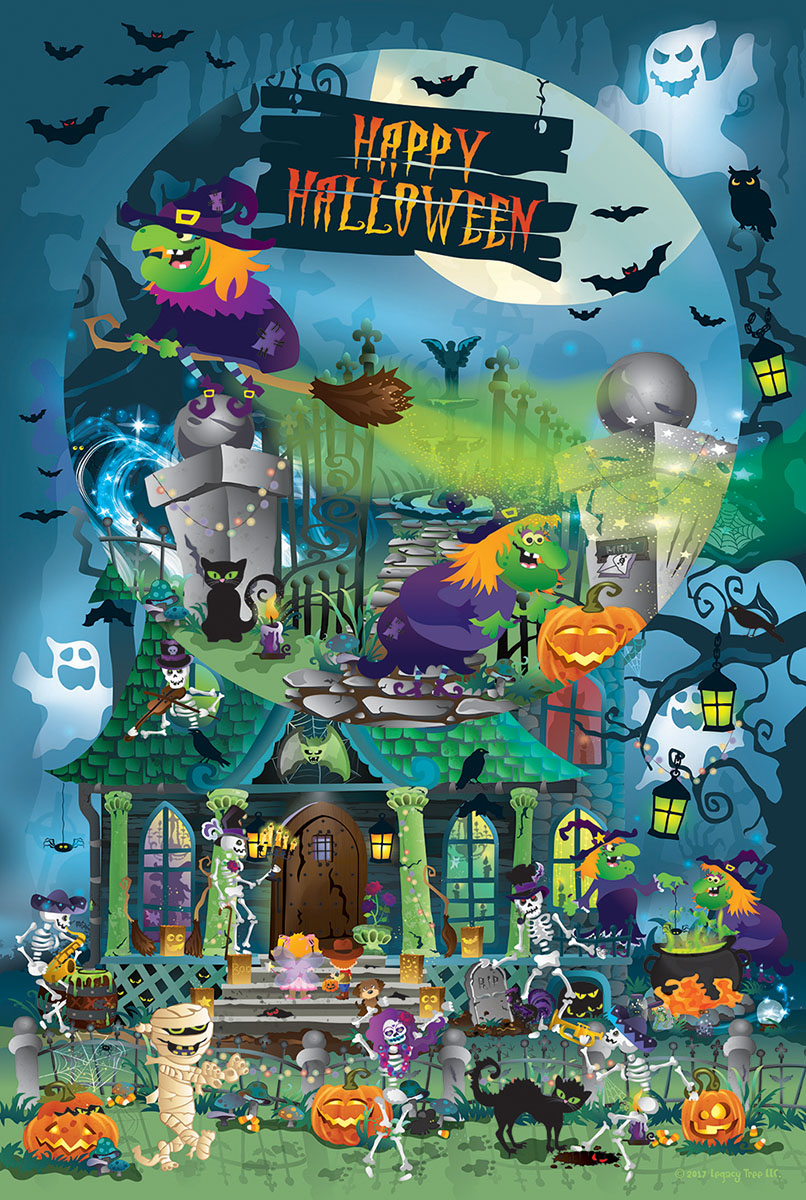 Trick or Treat for All Ages Halloween Jigsaw Puzzle