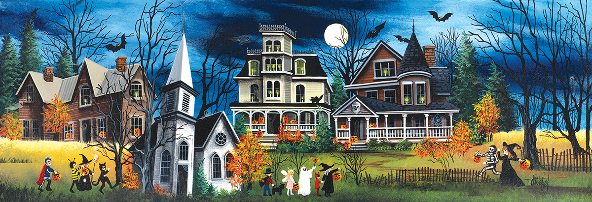 Spooky Lane Fall Jigsaw Puzzle
