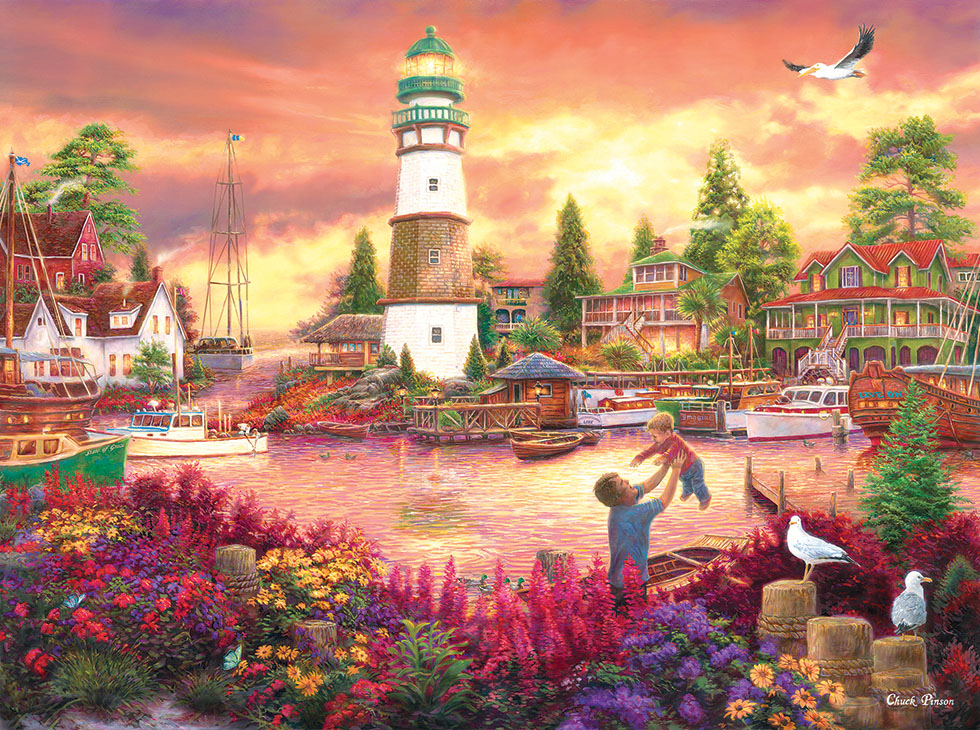 Love Lifted Me up Lighthouses Jigsaw Puzzle
