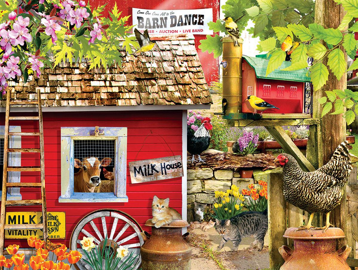 Milk House Crew Farm Jigsaw Puzzle