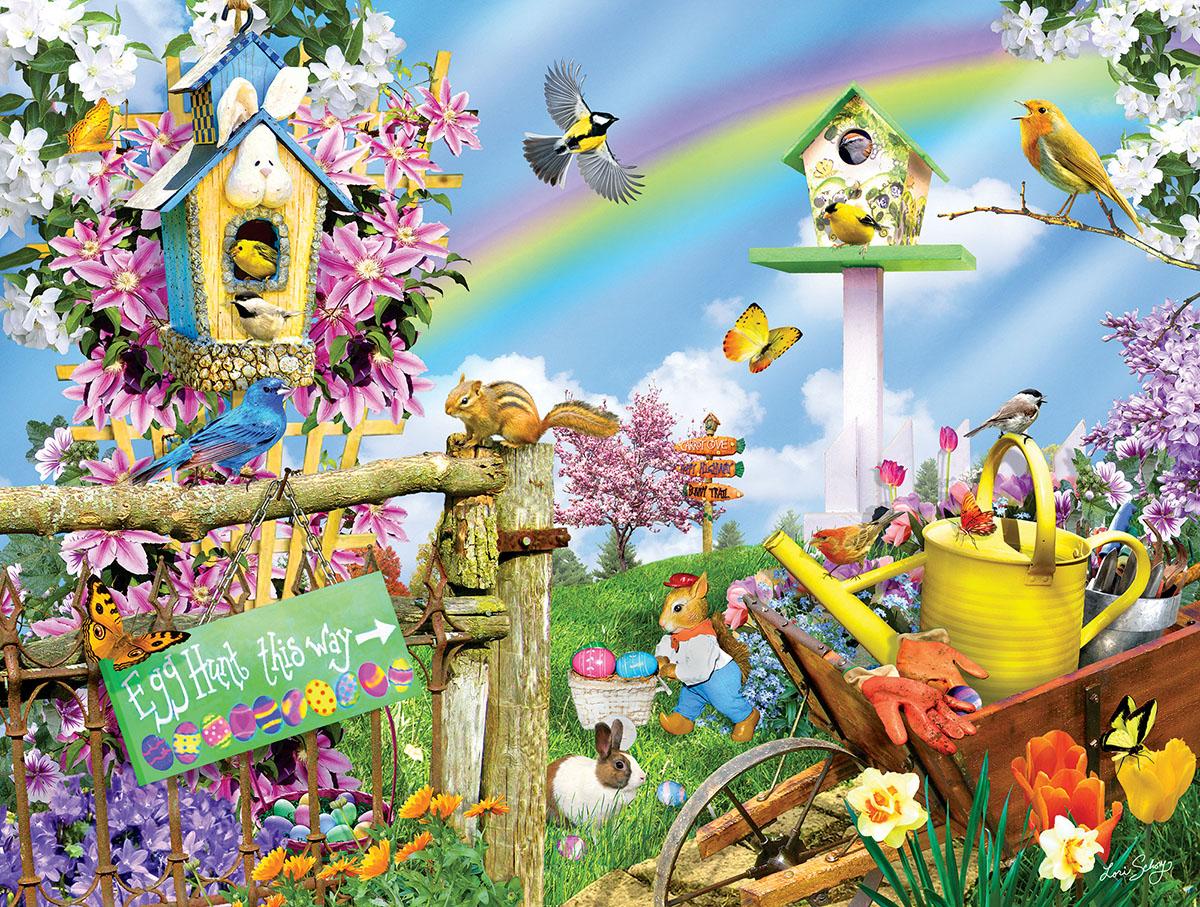 Spring Egg Hunt Birds Jigsaw Puzzle