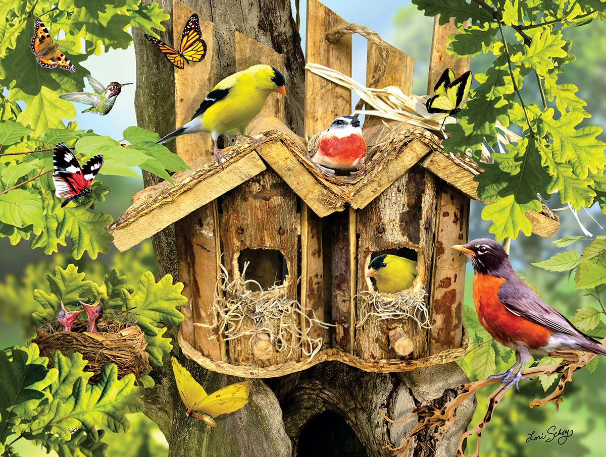 Being Neighborly Birds Jigsaw Puzzle