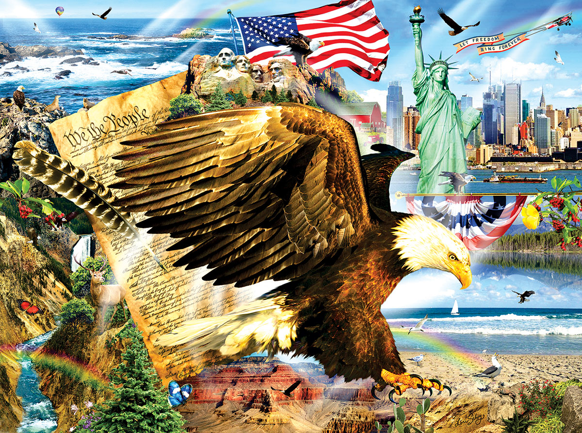 Across The Land Patriotic Jigsaw Puzzle