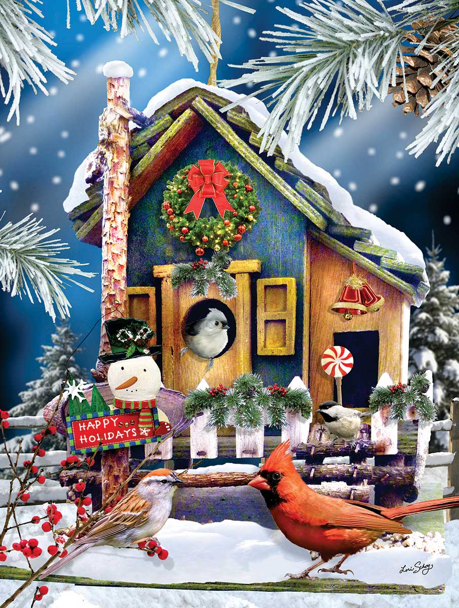 Holiday Visitors Birds Jigsaw Puzzle