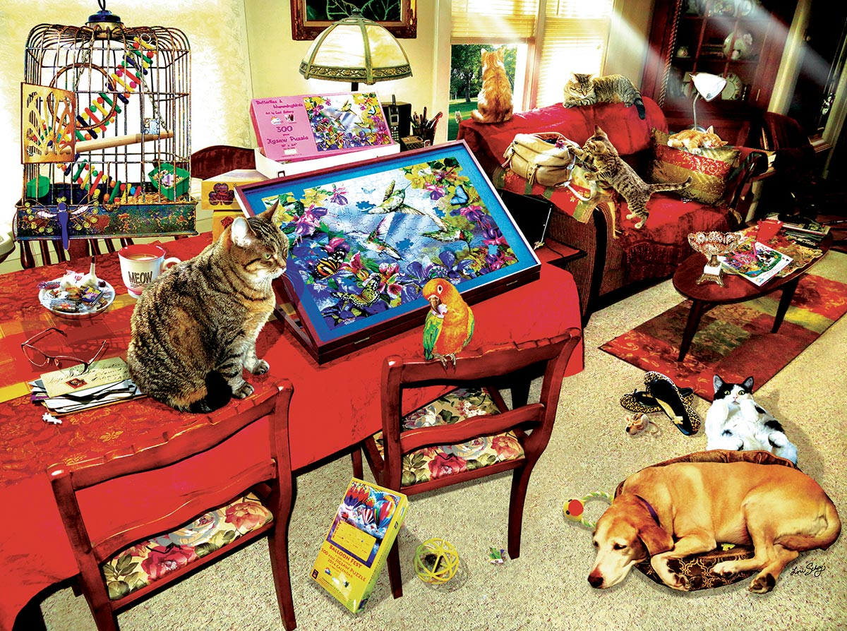 The Missing Piece - Scratch and Dent Animals Jigsaw Puzzle