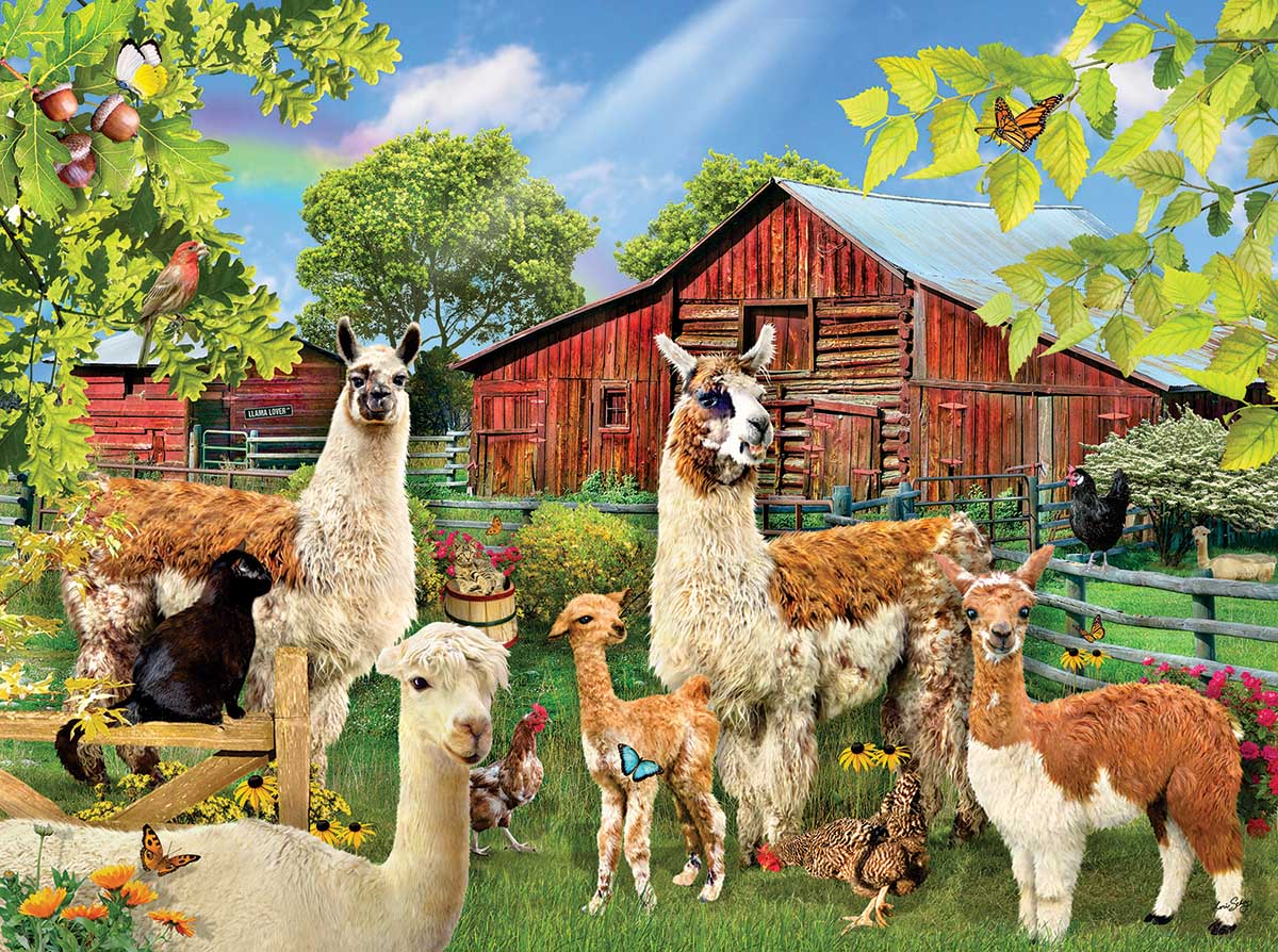 Six Llamas Animals Jigsaw Puzzle