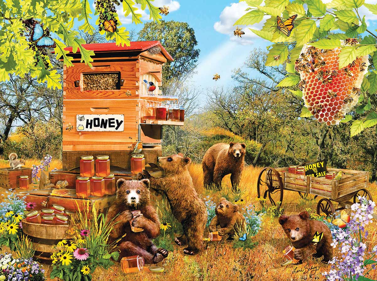 Bears and Bees Butterflies and Insects Jigsaw Puzzle
