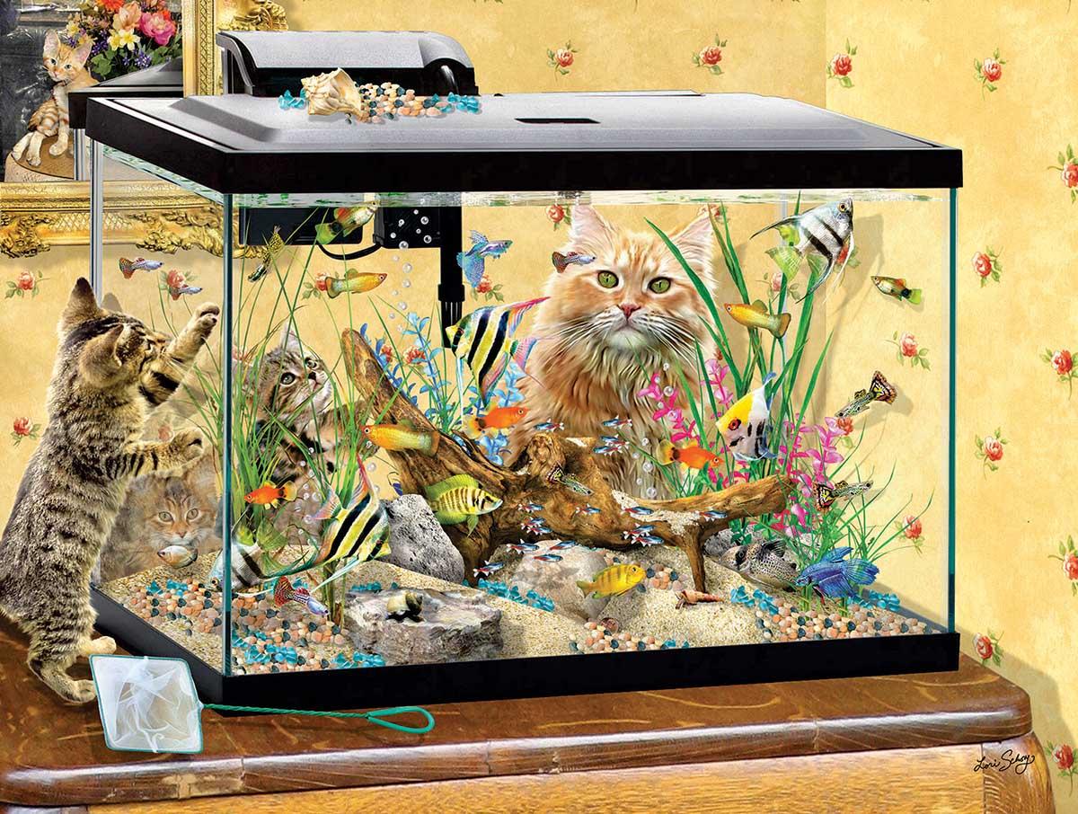 Fish Tank Cats Jigsaw Puzzle