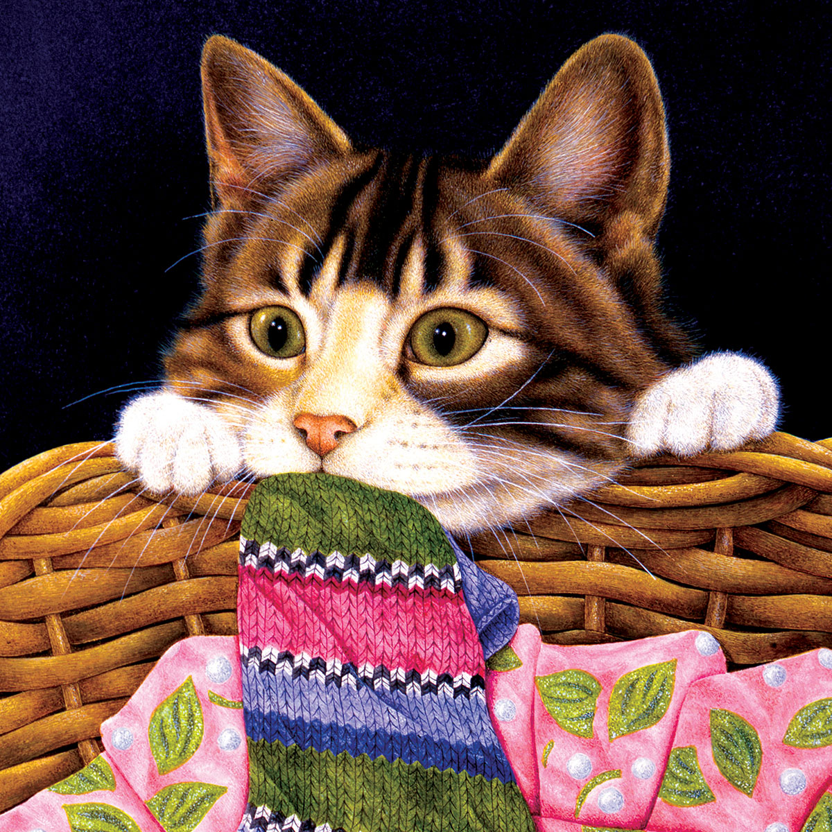 Crazy about Socks Cats Jigsaw Puzzle