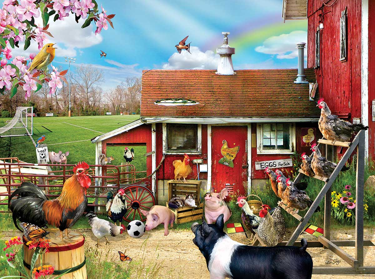 Barnyard Soccer Farm Animals Jigsaw Puzzle
