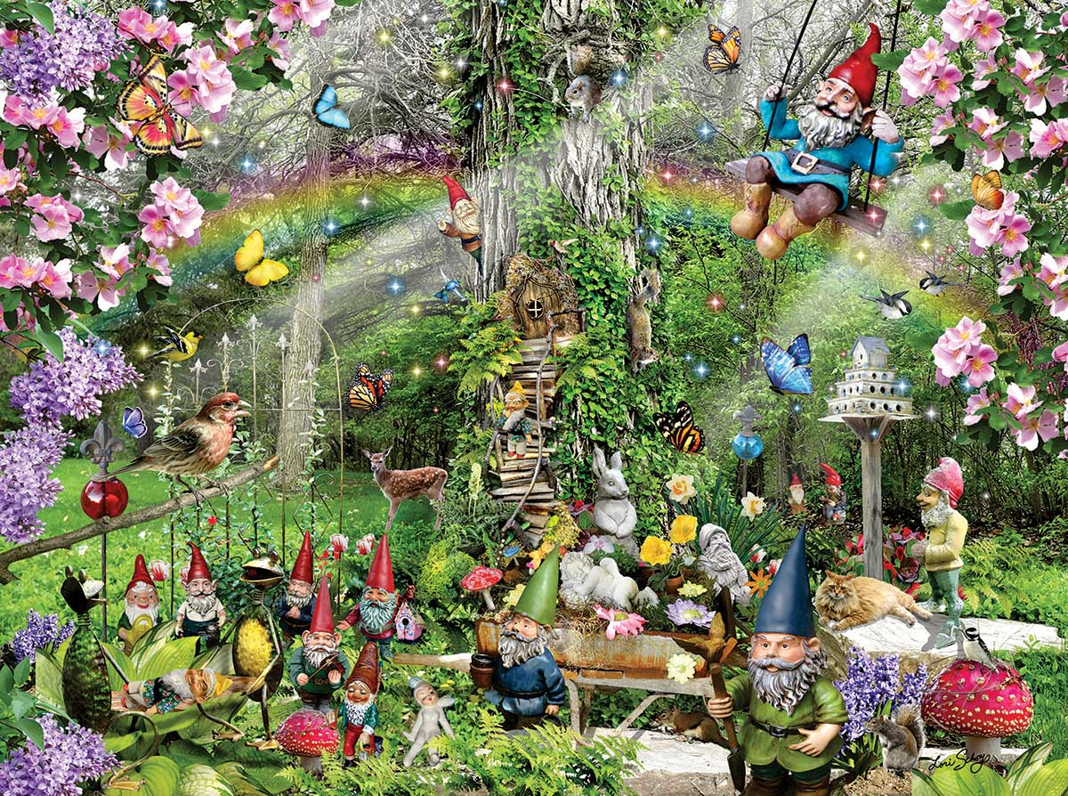 Gnomes Playground Fantasy Jigsaw Puzzle