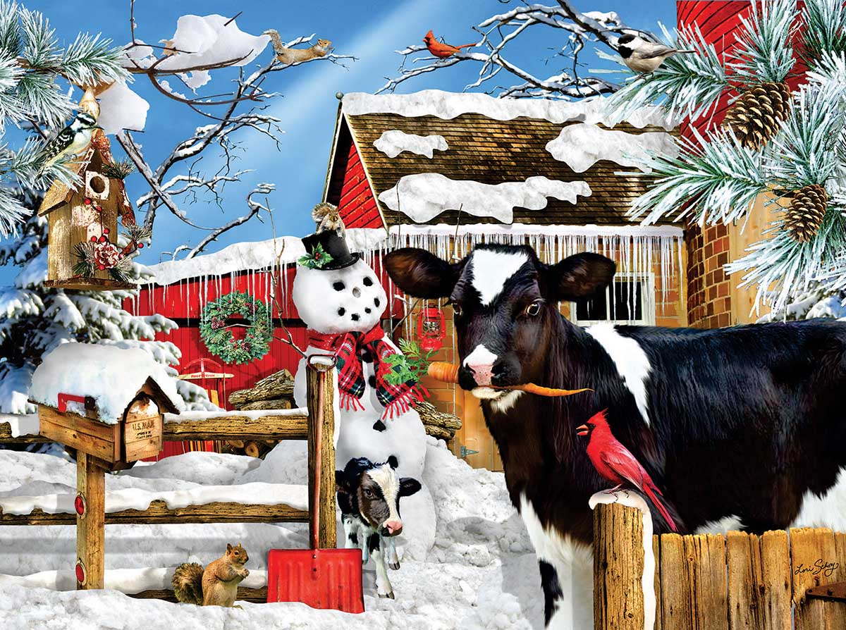 The Carrot Thief Farm Jigsaw Puzzle
