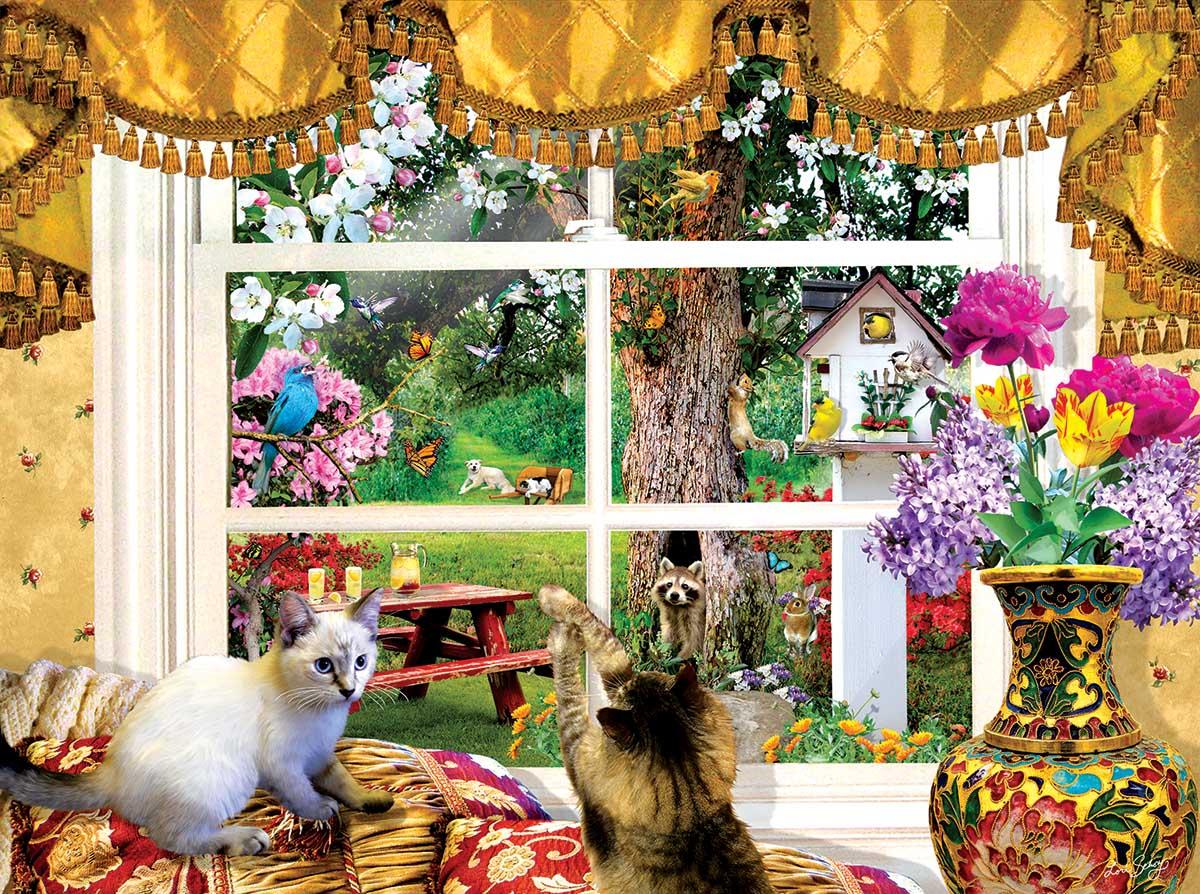 Through a Window Animals Jigsaw Puzzle