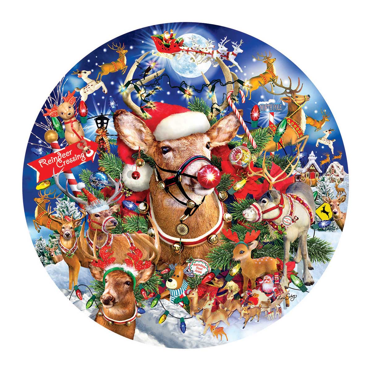 Reindeer Madness Christmas Jigsaw Puzzle