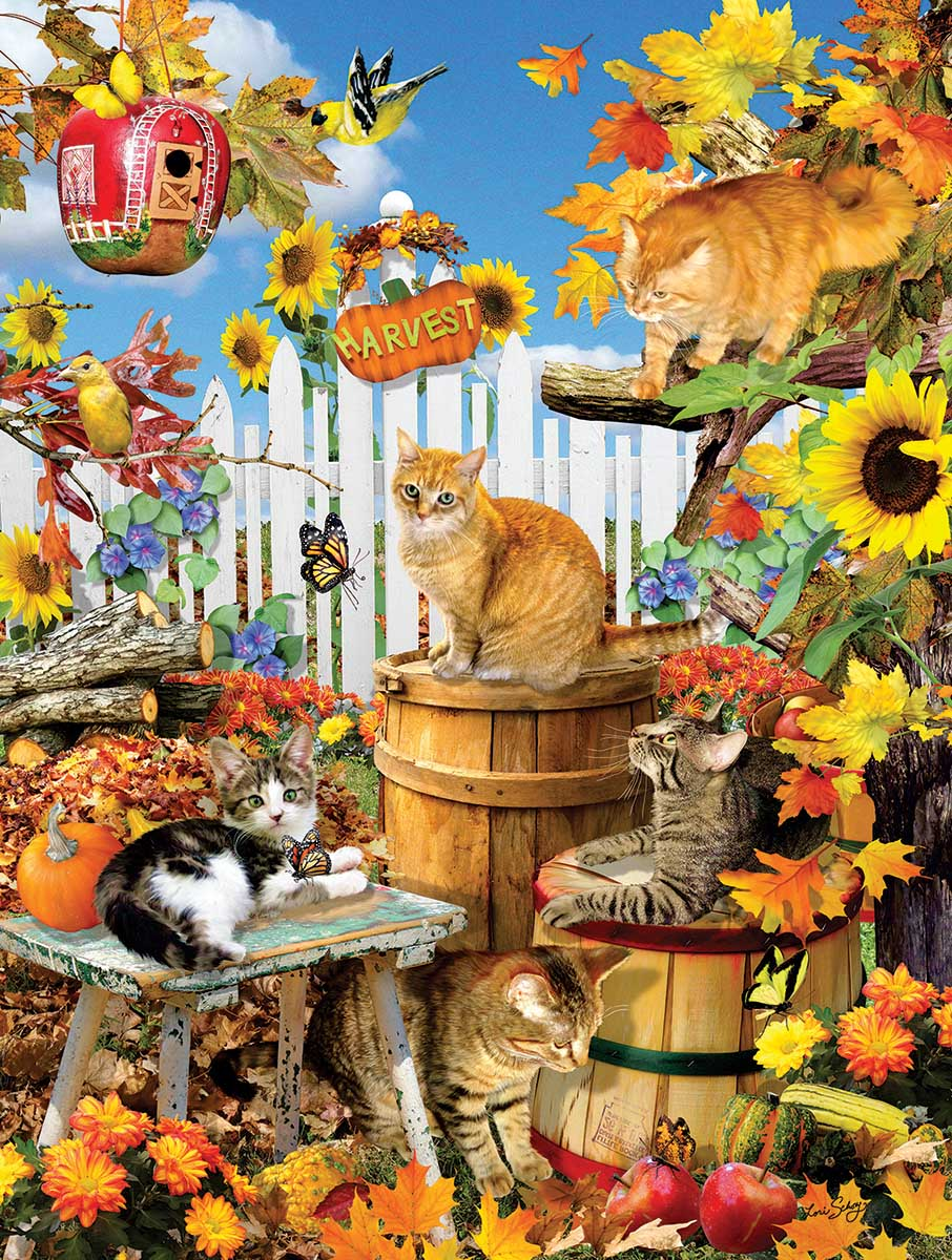 Harvest Kittens Cats Jigsaw Puzzle