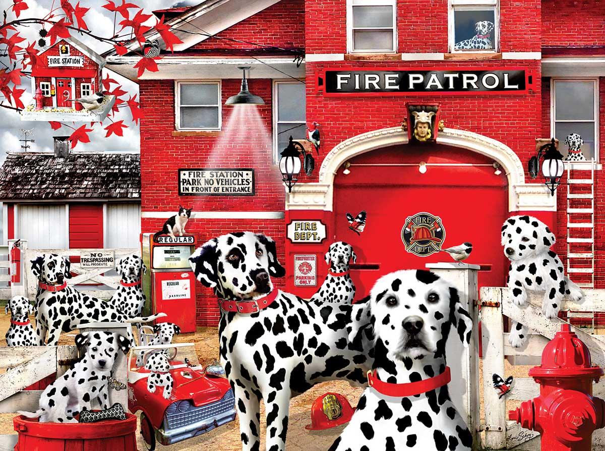 Dalmatian Station Dogs Jigsaw Puzzle