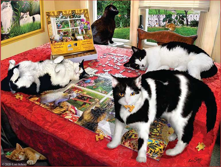 Who Let The Cats Out? Cats Jigsaw Puzzle