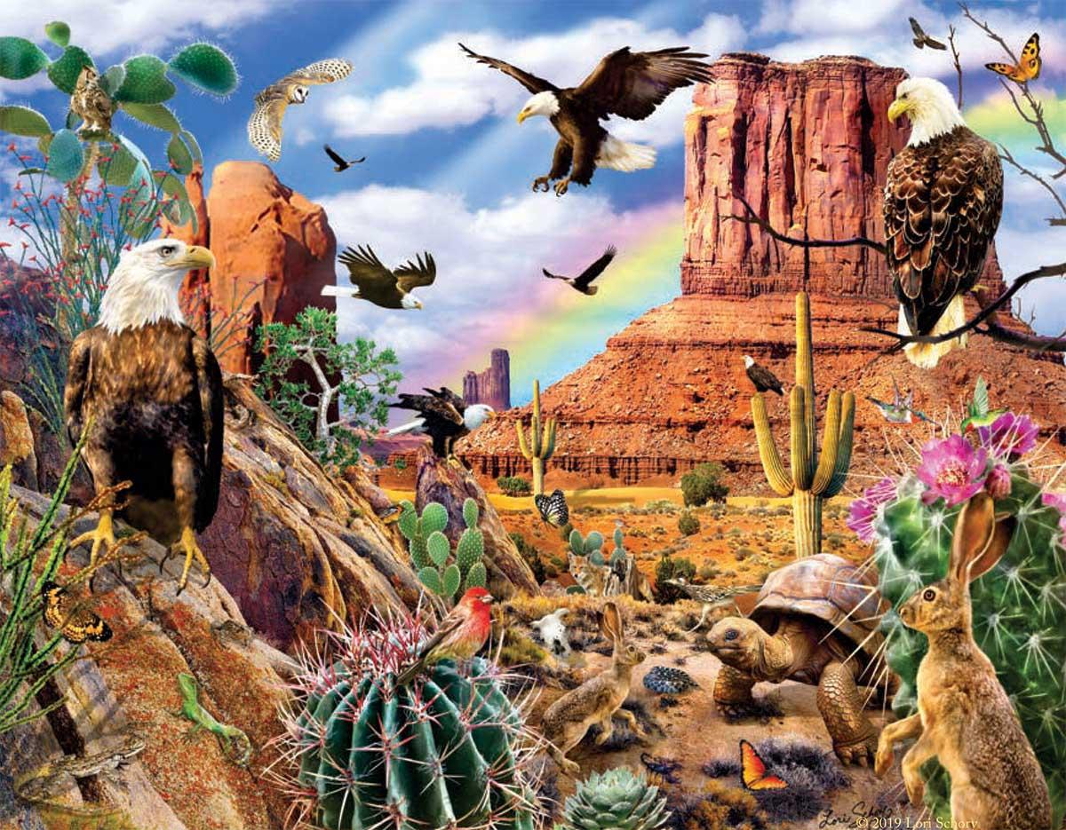Desert Eagles Animals Jigsaw Puzzle