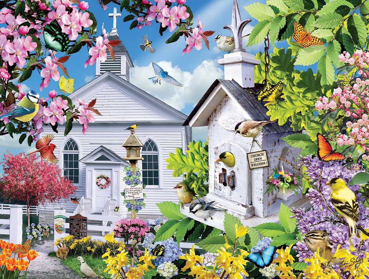 Time for Church Birds Jigsaw Puzzle