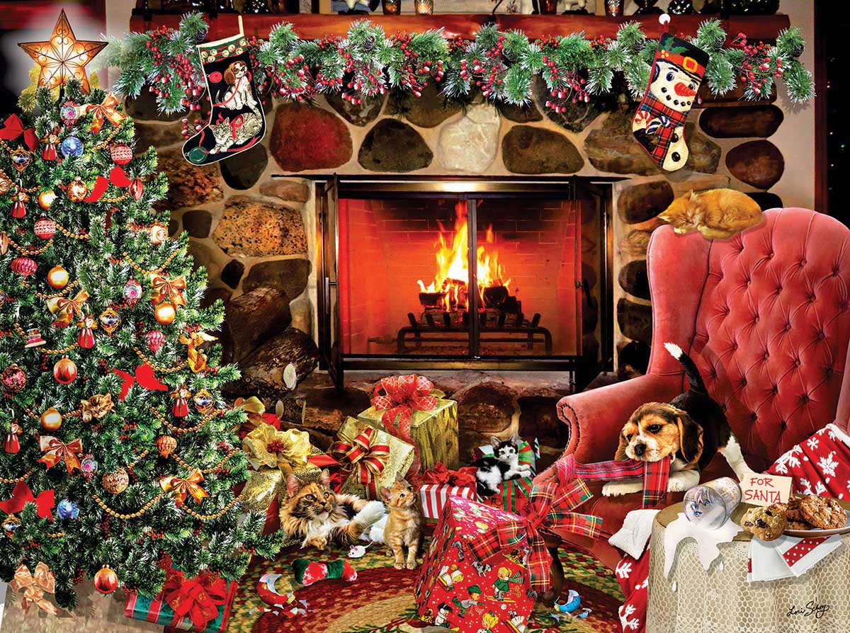 Christmas Mayhem Cats Jigsaw Puzzle