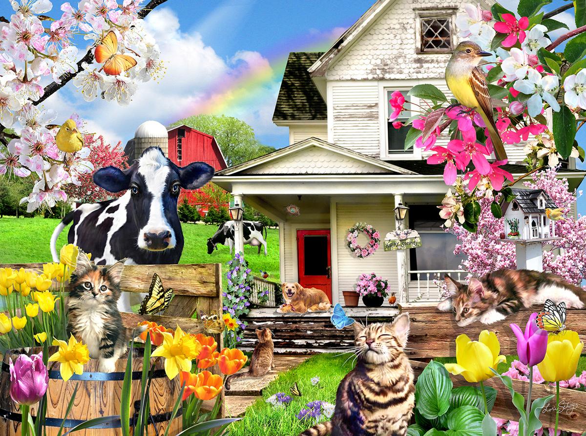 A Spring Day Farm Animals Jigsaw Puzzle