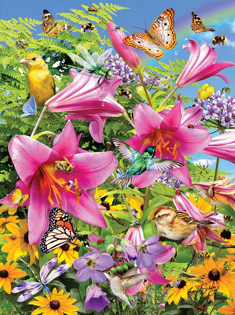 The Pollinators Flowers Jigsaw Puzzle